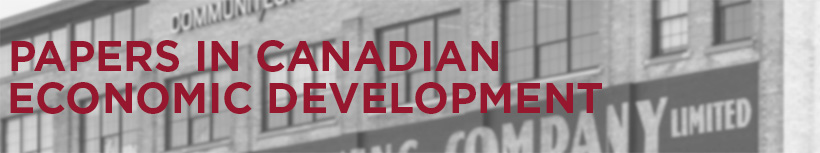 Papers in Canadian Economic Development banner